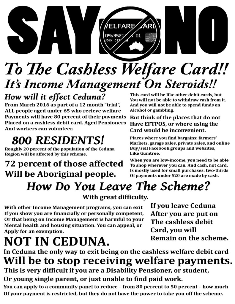 Ceduna And Cashless Debit Card Flier -Expanded Version Page 1
