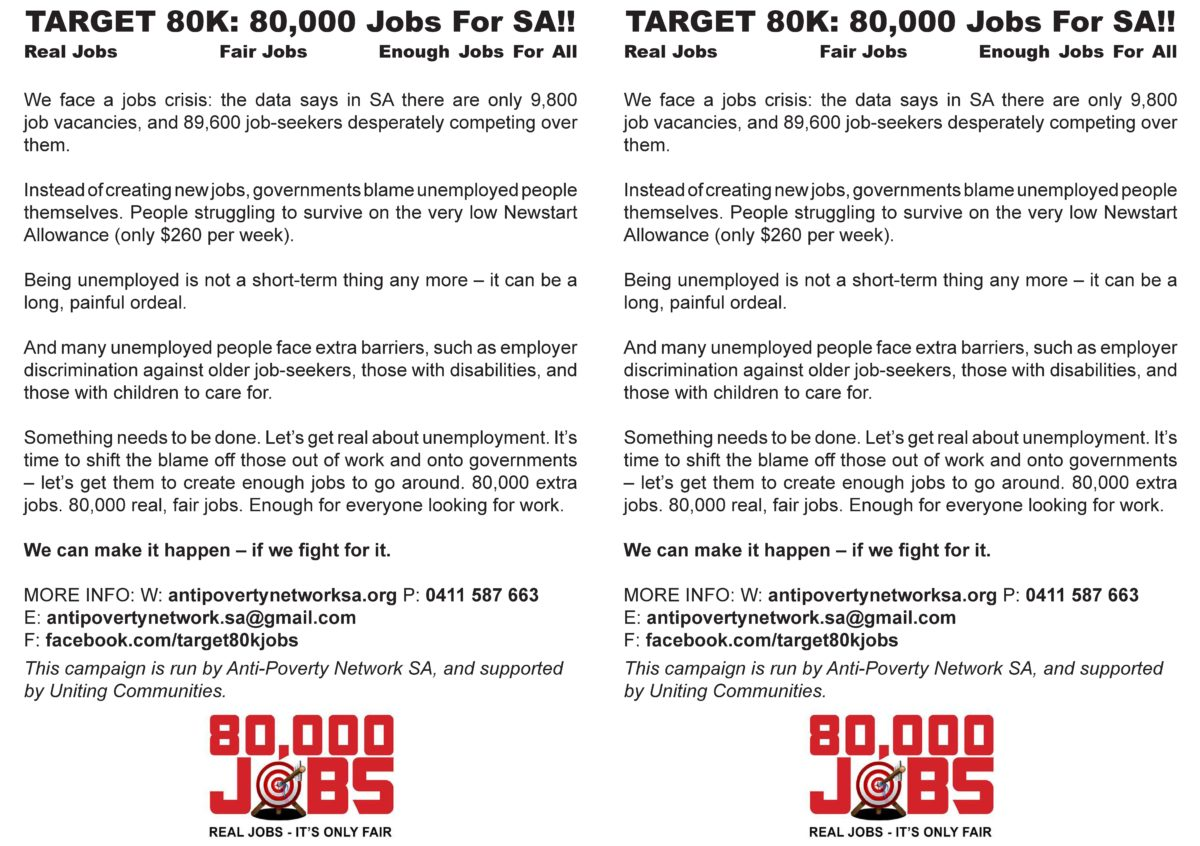 Target 80K Jobs Flier - Expanded Version - Page One